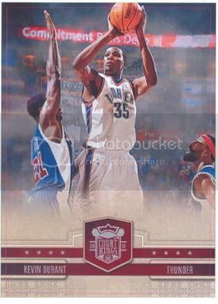 09/10 Panini Court Kings Kevin Durant Box Topper