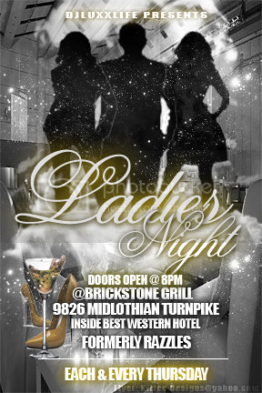 DJLUXXLife presents...Ladies Night Thursday&#039;s at Brickstone Bar &amp; Grill